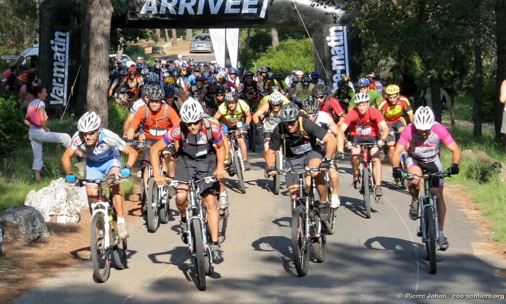 Départ de la course VTT 18 km