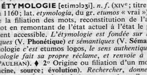 étymologie