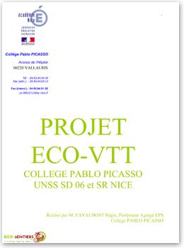 Projet ECO VTT du collège Pablo Picasso